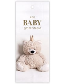 Kaartje ' een baby gefeliciteerd'