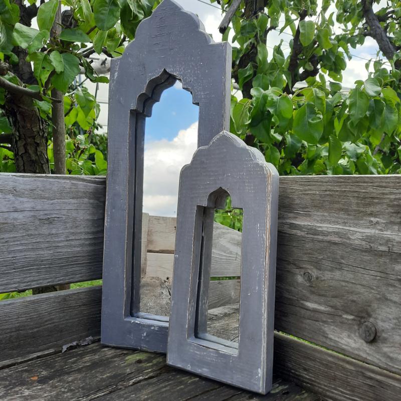 Spiegel groot 'Grijs'