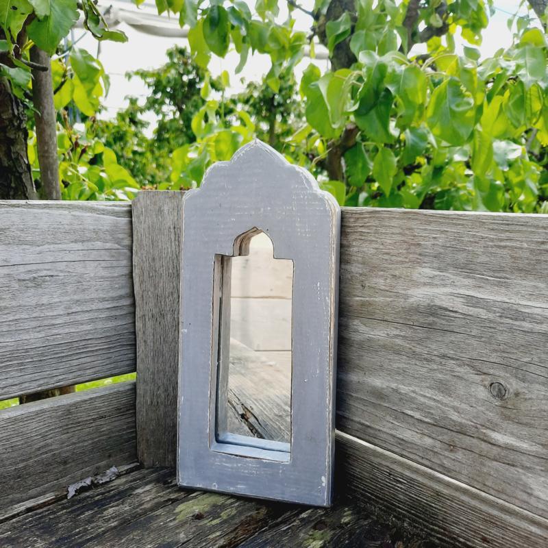 Spiegel klein 'grijs'