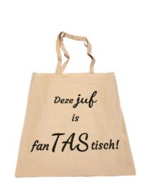 Katoenen tas 'Deze juf is fanTAStisch!'