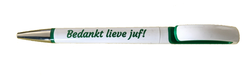 Balpen 'Bedankt lieve juf!' groen