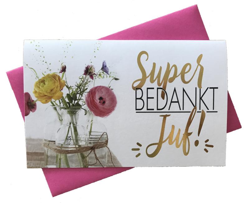 Hallmark kaart 'Super bedankt juf'