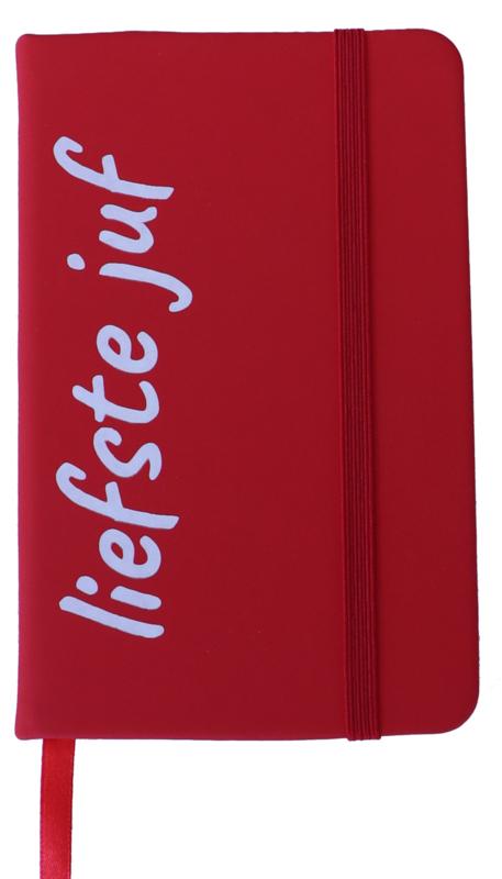 Notitieboekje 'liefste juf' rood