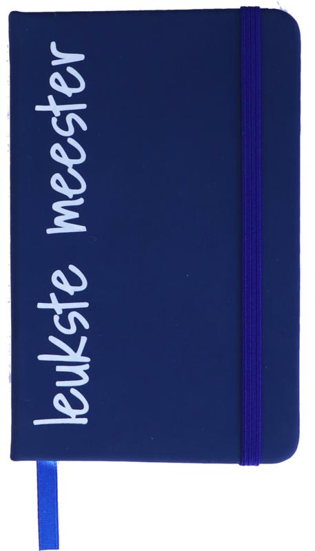 Notitieboekje 'leukste meester' blauw