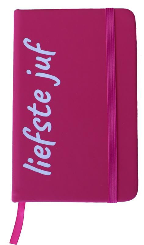 Notitieboekje 'liefste juf' roze