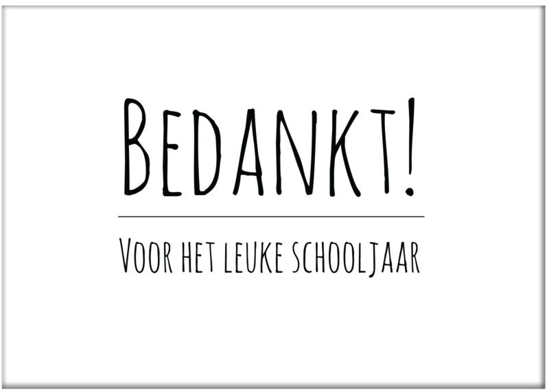 Kaart 'Bedankt voor het leuke schooljaar'