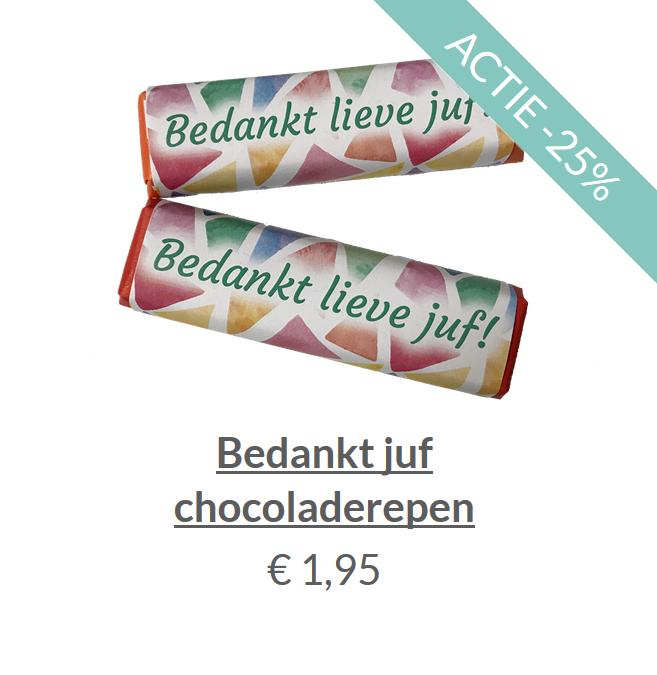 Bedankt juf chocoladereep
