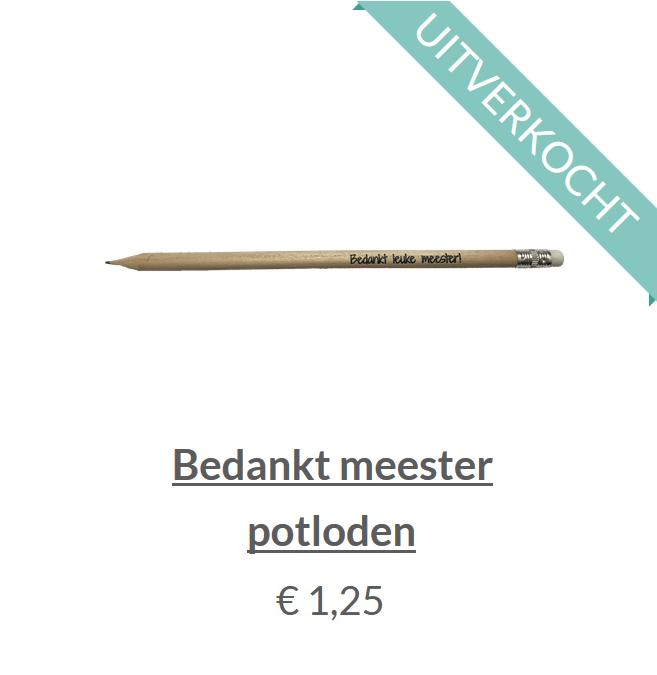 Bedankt meester potlood