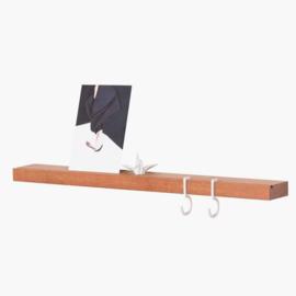 Figr1 Wandplankje - Donker Hout - 50cm