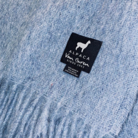 Plaid Alpacawol - Grijsblauw