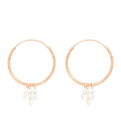 Miab Oorbellen Big Rounds Mini Pearls - Goud