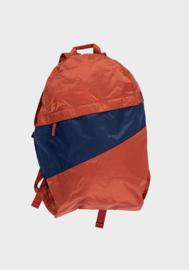 Susan Bijl Foldable Backpack - Rust & Ocean