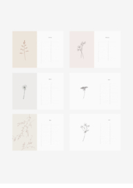 Inkylines Verjaardagskalender - Botanisch