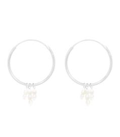 Miab Oorbellen Big Rounds Mini Pearls - Zilver