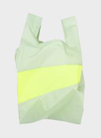 Susan Bijl Shoppingbag M - Pistachio & Fluo Yellow