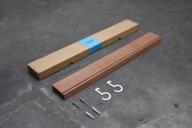 Figr1 Wandplankje 50cm   Donker Hout