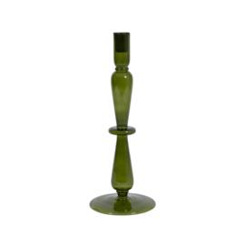 Unc Kandelaar Glas 33,5cm | Groen