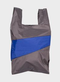 Susan Bijl Shoppingbag L - Warm Grey & Electric Blue