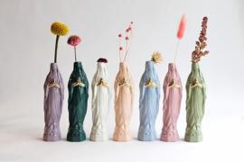 Atelier Saf Maria Vaasje Medium | Lichtblauw & Goudluster