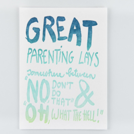 Studio Flash Letterpress - Peptalk For Parents