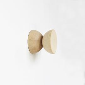 5mm Paper -  Dubbele Wandknop | Hout