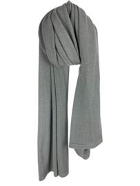 SJLMN Cosy Eco Cotton Sjaal - Solid Grey