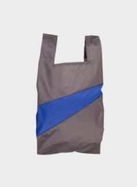 Susan Bijl Shoppingbag M - Warm Grey & Electric Blue