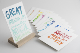 Studio Flash Letterpress - Peptalk For Parents