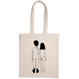 Helen B. Tote Bag - Naked Couple Back