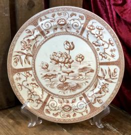 Dinerbord - G & W Late Mayers (Gildea & Walker) - décor JAPAN bruin