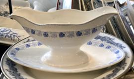 Juskom / sauskom - Société Céramique Maestricht - décor COEUR lichtblauw