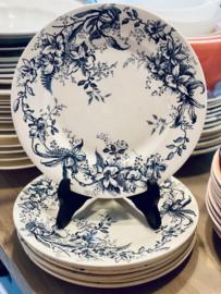 Ontbijtbordje - R&A (Salins) - décor CYCLAMEN blauw