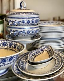 Zuurschaaltje / belegschaaltje - Sarreguémines - décor SYRA blauw