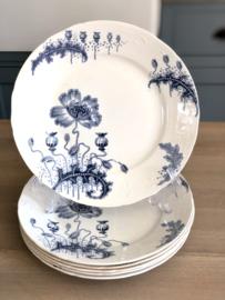 Ontbijtbord - Société Céramique Maestricht - décor MORPHÉE blauw