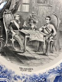 Bordje - Petrus Regout - décor VILLA FRANCA 23 juilliet 1859 (ITALIA, uit 1860-1870)