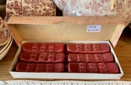 Messenleggers bordeauxrood, in hun originele doosje) - Coceram