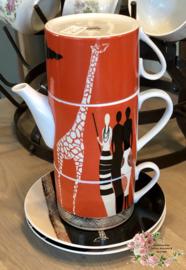Thee ensemble 3-delig – Silea – decor met giraffe
