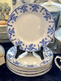 Ontbijtbordje - Boch - décor DUX blauw