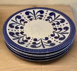 Ontbijtbordje - Boch La Louvière - décor NEVADA blauw