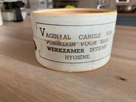 Vaginaal canule van porselein, merk TOXA