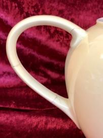 Koffiepot / theepot - Petrus Regout - model DESIREE - pastelgeel met décor DAHLIA