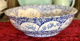 Lampetbak - Petrus Regout - décor ALLA blauw - 1890-1910
