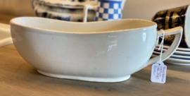 Bourdaloue / koetspo - Boch - crème wit aardewerk - te dateren 1880-1899