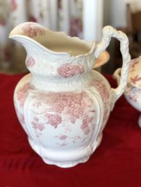 Lampetkan groot – Clementson Bro – semi-porcelain – decor Bavaria rood met hop-afbeeldingen