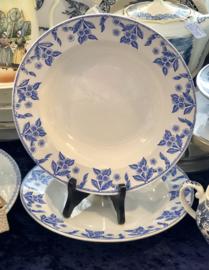 Diep bord - Boch - décor DUX blauw
