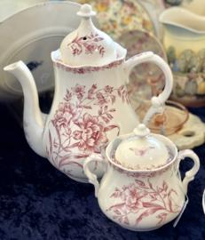 Suikerpot - Nimy - décor OEILLETS rood