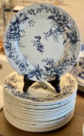 Dinerbord  - R&A (Salins) - décor CYCLAMEN blauw