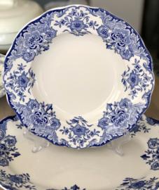 Diep bord / soepbord - B.F.K. - décor DORDRECHT blauw