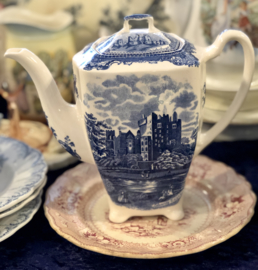 Koffiepot – Johnson Bros – decor Old British Castles blauw