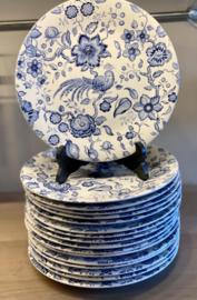 Dinerbord - Villeroy & Boch - décor PARADISO blauw (Kupferdruck Unterglasur)